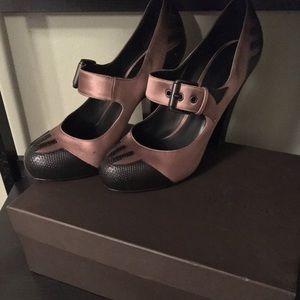 Pristine Bottega Veneta Mary Jane Pumps - Size 38
